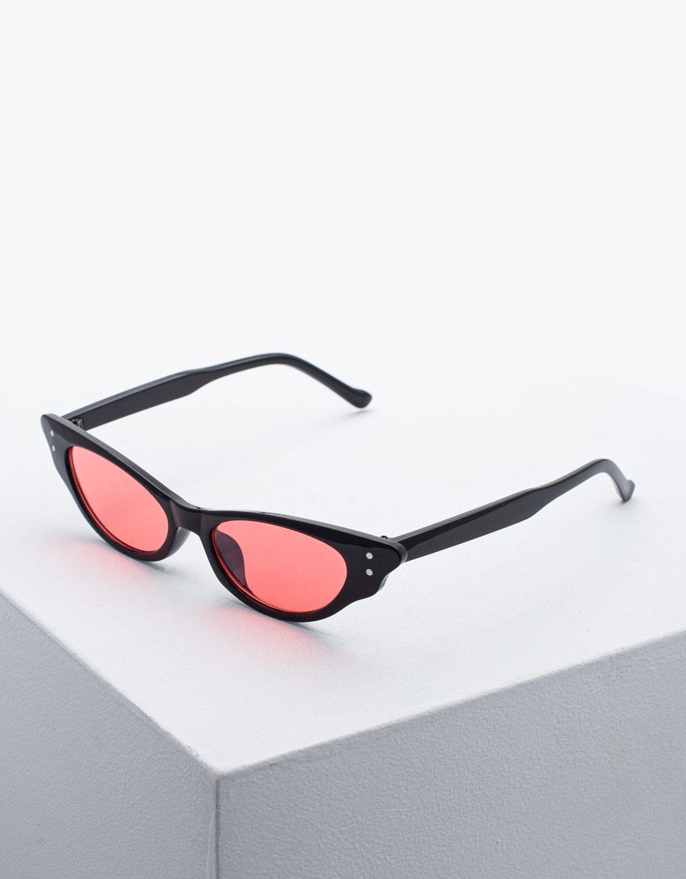 Εικόνα από Γυναικεία γυαλιά ηλίου σε σχήμα πεταλούδας Μαύρο/Ροζ