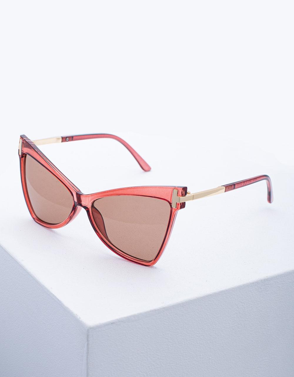 Εικόνα από Γυναικεία γυαλιά ηλίου σε σχήμα πεταλούδας oversized Ροζ