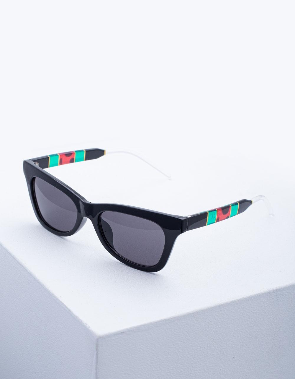 Εικόνα από Γυναικεία γυαλιά ηλίου σε συνδυασμό χρωμάτων Μαύρο/Πράσινο