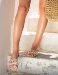 Εικόνα από Γυναικεία σανδάλια με oversized κρίκους Λευκό