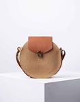 Εικόνα από Γυναικεία τσάντα ώμου & χιαστι ψάθινη Πούρο