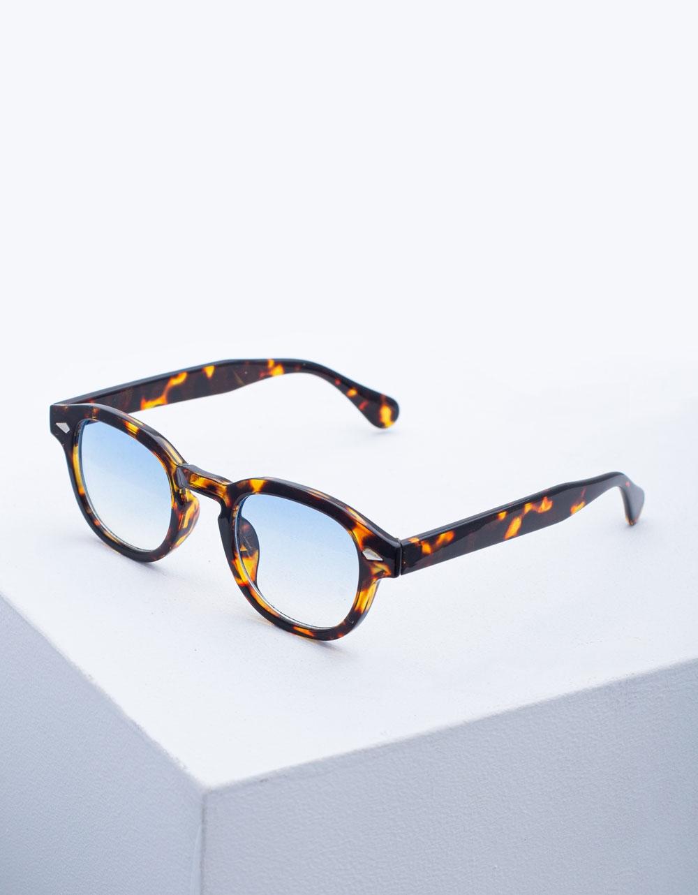 Εικόνα από Γυναικεία γυαλιά ηλίου στρογγυλά Λεοπάρ