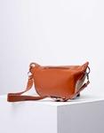 Εικόνα από Γυναικεία τσάντα ώμου & χιαστί σε συνδυασμό υλικών Ταμπά