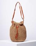 Εικόνα από Γυναικεία ώμου & χιαστί τσάντα πουγκί ψάθινη Πούρο