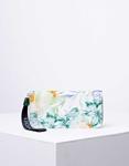 Εικόνα από Γυναικείο πορτοφόλι σε συνδυασμό χρωμάτων με λουλούδια Πράσινο