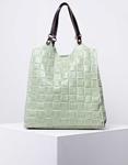Εικόνα από Γυναικεία τσάντα ώμου & χιαστί από γνήσιο δέρμα πλεκτό με εσωτερικό τσαντάκι Πράσινο