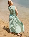 Εικόνα από Γυναικείο κιμονό μακρύ Λαδί