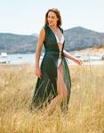 Εικόνα από Γυναικείο κιμονό μακρύ Πράσινο