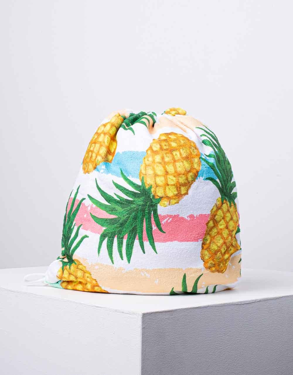 Εικόνα από Πετσέτα θαλάσσης backpack με σχέδιο ανανά Κίτρινο