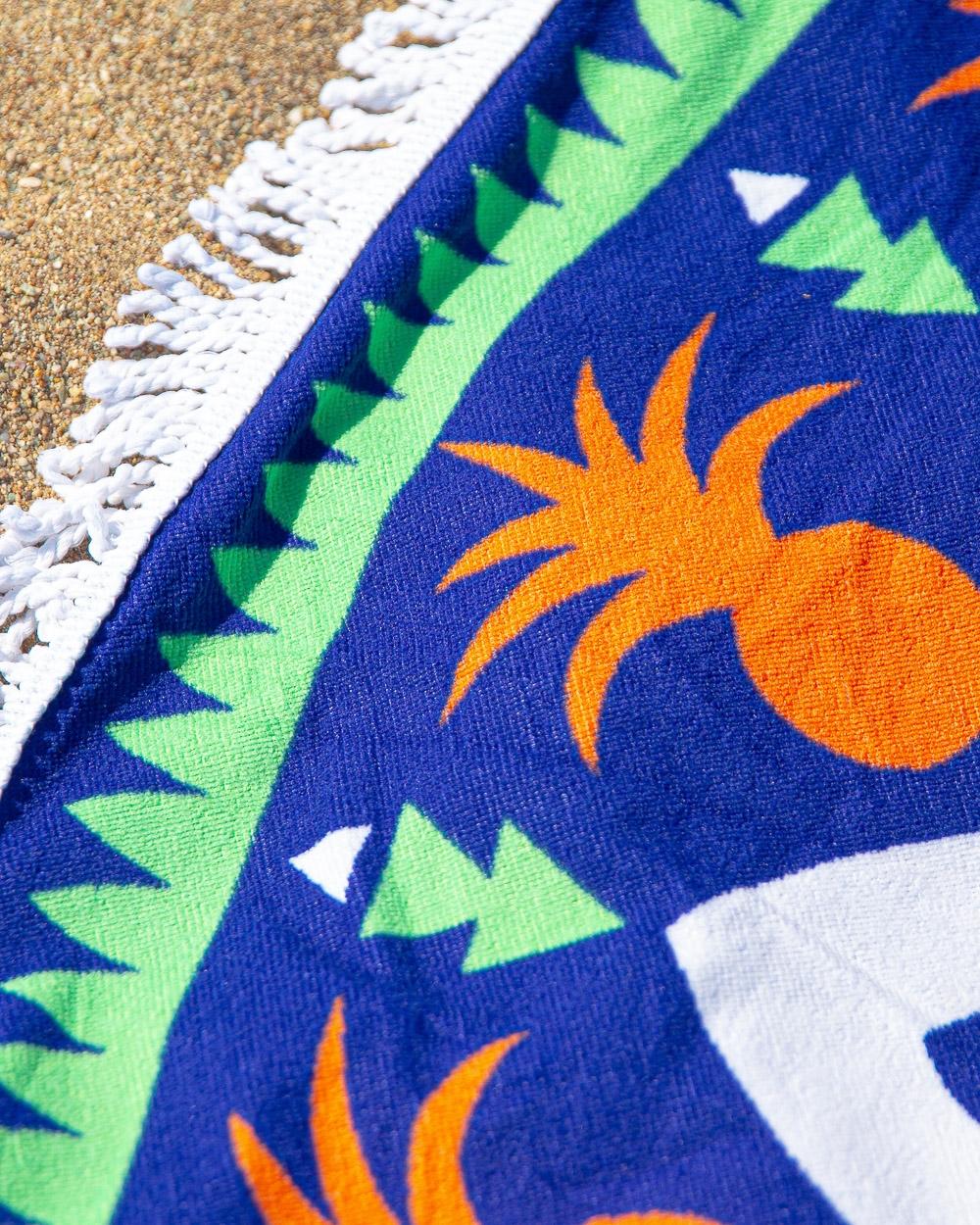 Εικόνα από Πετσέτα θαλάσσης στρογγυλή με σχέδια Μπλε
