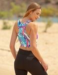Εικόνα από Γυναικείo αθλητικό μπουστάκι σε συνδυασμό χρωμάτων Σιέλ