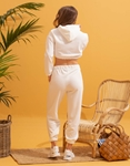 Εικόνα από Γυναικεία φόρμα με λάστιχο Λευκό