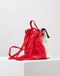 Εικόνα από Γυναικεία σακίδια πλάτης σε συνδυασμό υλικών & σχέδια Κόκκινο