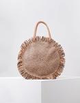 Εικόνα από Γυναικεία τσάντα χειρός ψάθινη Σομόν