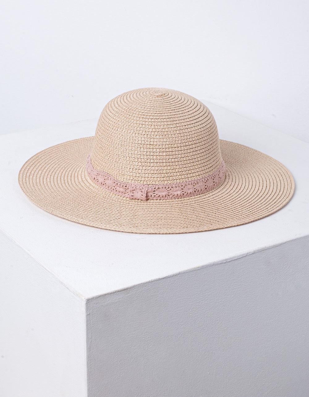 Εικόνα από Γυναικείο καπέλο ψάθινο Ροζ