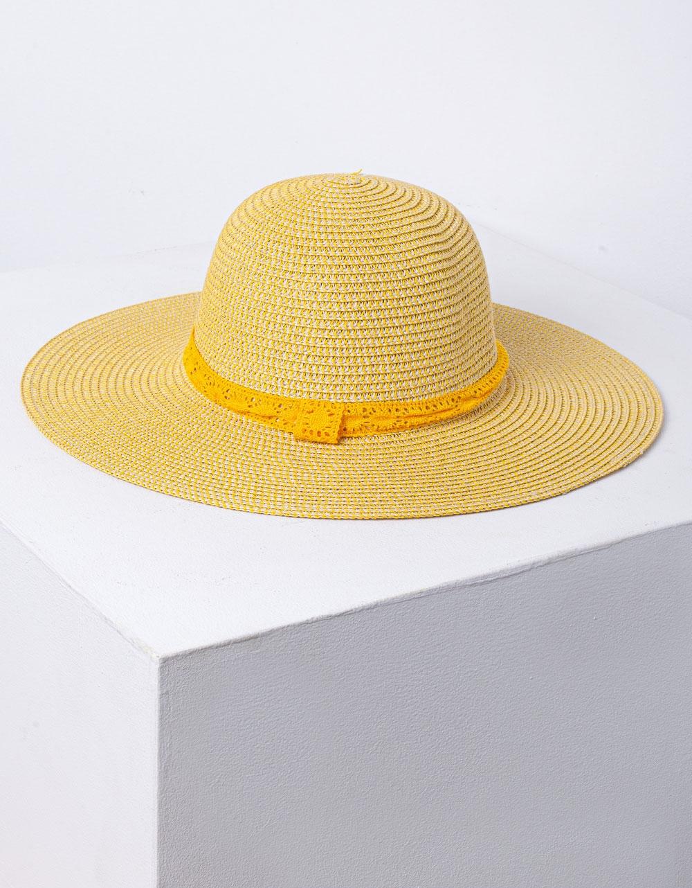 Εικόνα από Γυναικείο καπέλο ψάθινο Κίτρινο