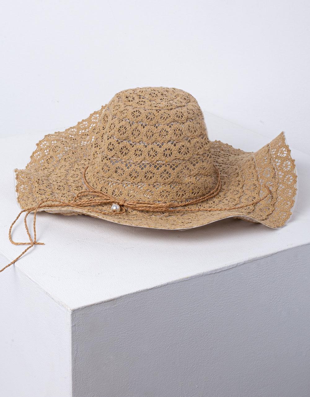 Εικόνα από Γυναικείο καπέλο με κυματιστό σχέδιο Πούρο
