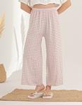 Εικόνα από Γυναικείο παντελόνι με φαρδιά πατζάκια Ροζ