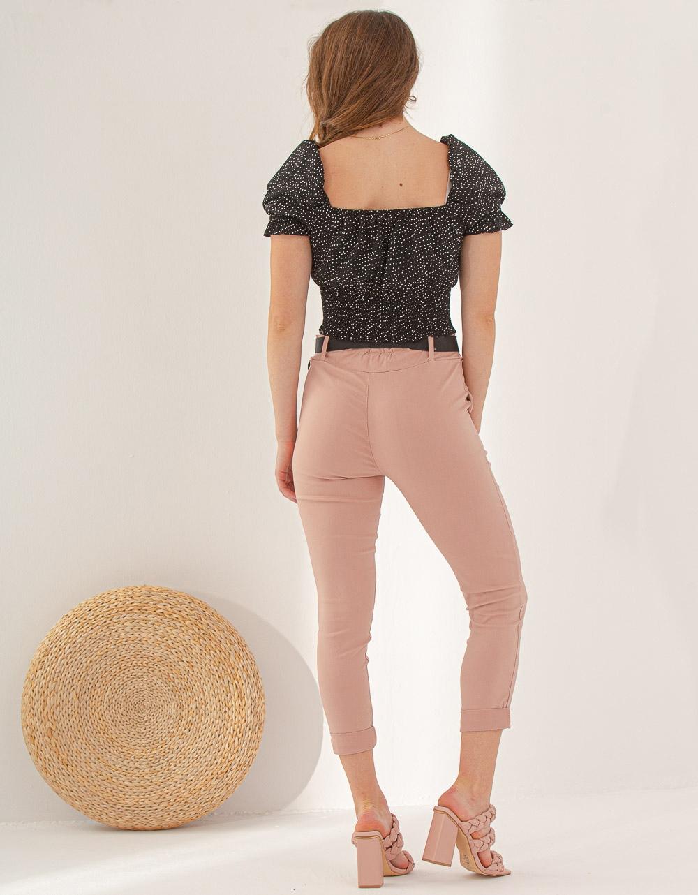 Εικόνα από Γυναικείο παντελόνι σε ίσια γραμμή Ροζ