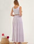 Εικόνα από Γυναικεία φούστα μακριά με ρίγες Μωβ