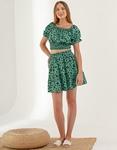 Εικόνα από Γυναικεία σετ φούστα & crop top Πράσινο