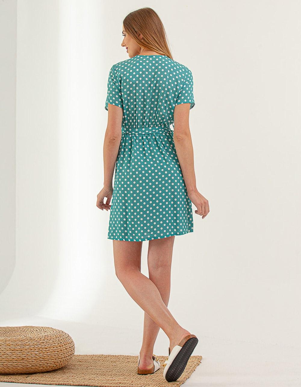 Εικόνα από Γυναικείο φόρεμα με πουά σχέδιο Βεραμάν