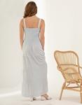Εικόνα από Γυναικείο φόρεμα μακρύ με ρίγες Πράσινο