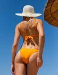 Εικόνα από Γυναικείο μαγιό σετ μπικίνι με μπανέλα Πορτοκαλί