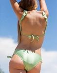 Εικόνα από Γυναικείο μαγιό σετ μπικίνι με βολάν Πράσινο