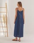 Εικόνα από Γυναικείο φόρεμα σεμιζιέ μακρύ Τζιν