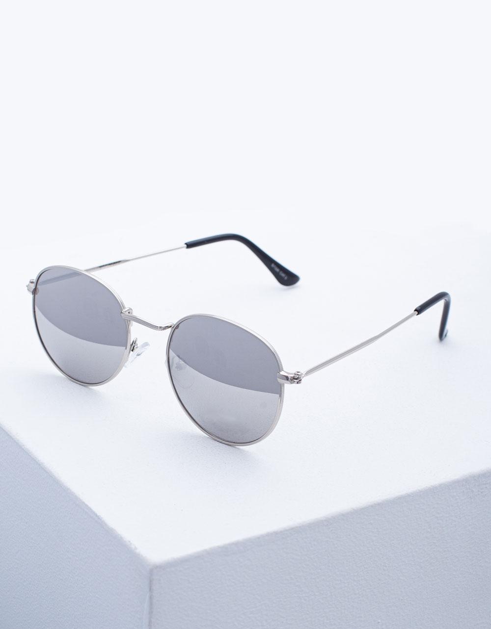 Εικόνα από Γυναικεία γυαλιά ηλίου με χρωματιστούς φακούς Ασημί