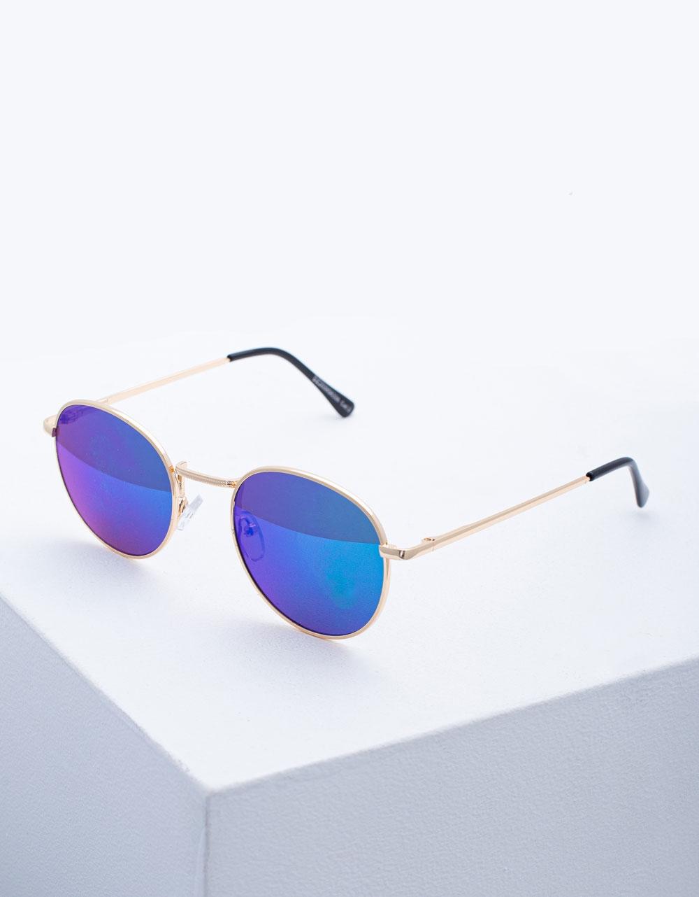 Εικόνα από Γυναικεία γυαλιά ηλίου με χρωματιστούς φακούς Κόκκινο