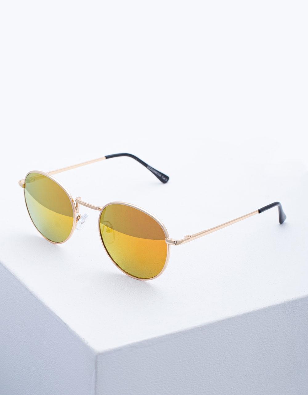 Εικόνα από Γυναικεία γυαλιά ηλίου με χρωματιστούς φακούς Κίτρινο