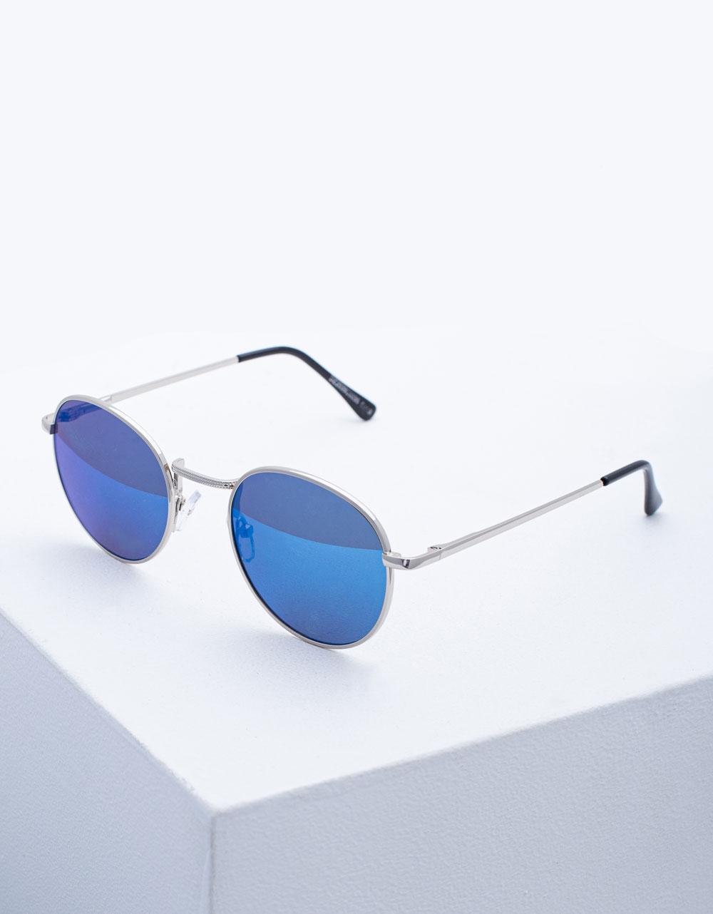 Εικόνα από Γυναικεία γυαλιά ηλίου με χρωματιστούς φακούς Σιέλ