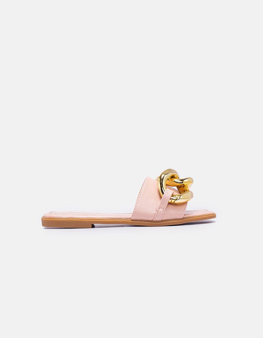 Εικόνα από Γυναικεία σανδάλια με μεταλλικό κρίκο Ροζ
