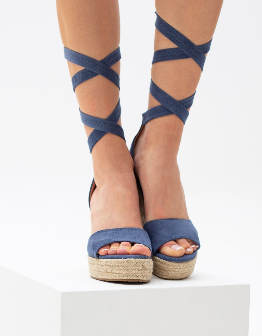 Εικόνα από Γυναικείες εσπαντρίγιες lace up Μπλε
