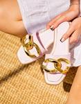 Εικόνα από Γυναικεία σανδάλια με μεταλλικό κρίκο Λιλά