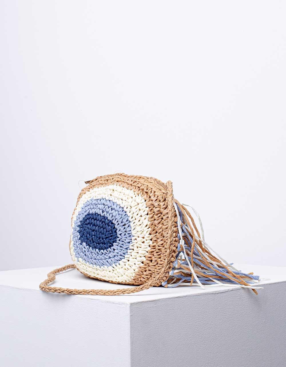 Εικόνα από Γυναικεία τσάντα μάτι ώμου & χιαστί με κρόσια Πούρο