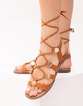 Εικόνα από Γυναικεία σανδάλια lace up Ταμπά