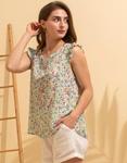 Εικόνα από Γυναικεία μπλούζα με floral σχέδιο Πράσινο