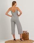 Εικόνα από Γυναικεία ριπ ολόσωμη φόρμα ζιπ κιλότ Γκρι