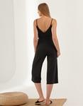 Εικόνα από Γυναικεία ριπ ολόσωμη φόρμα ζιπ κιλότ Μαύρο