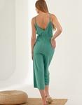 Εικόνα από Γυναικεία ριπ ολόσωμη φόρμα ζιπ κιλότ Πράσινο