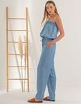 Εικόνα από Γυναικεία ολόσωμη φόρμα strapless Μπλε