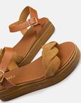 Εικόνα από Γυναικεία σανδάλια από γνήσιο δέρμα με μπαρέτα Πούρο
