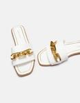 Εικόνα από Γυναικεία σανδάλια σανδάλια με oversized αλυσίδα Λευκό