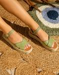 Εικόνα από Γυναικείες εσπαντρίγιες με χιαστί φάσες κροκό Πράσινο