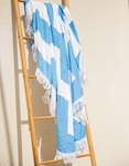 Εικόνα από Γυναικεία πετσέτα θαλάσσης με διχρωμία Λευκό/Μπλε