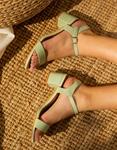 Εικόνα από Γυναικεία basic πέδιλα μονόχρωμα Πράσινο