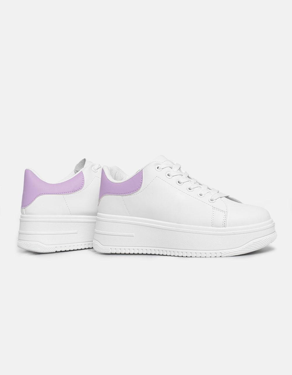 Εικόνα από Γυναικεία sneakers με διπλή σόλα και διχρωμία Μωβ